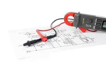 Digital multimeter and the circuit.