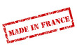 Grunge Made in France Stamp
