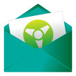 Courrier, email, message, invitation, enveloppe, atome, énergie