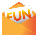Courrier, email, message, invitation, enveloppe, fun, humour, poster