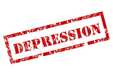 Depression grunge stamp