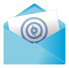Courrier, email, message, invitation, enveloppe, cible, but