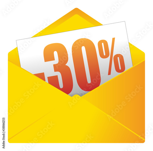 Fotobehang mail e mail bericht uitnodiging envelop saldi 30 vector - Handig saldi ...