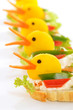 Dekorative Paprika-Frischkäse-Enten