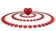 im Zentrum der Herzen Rot Weiß