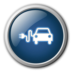 Electric Car Glossy Button