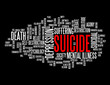 """SUICIDE"" Tag Cloud (depression death suicidal mental illness)"