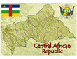 central african republic map flag emblem