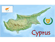 cyprus europe map flag emblem