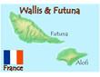 wallis futuna france map flag emblem