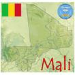 mali africa map flag emblem