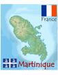 martinique france caribbean map flag emblem