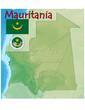 mauritania africa map flag emblem