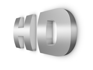 HD metal word 3d render