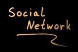 Phrase Social network poster