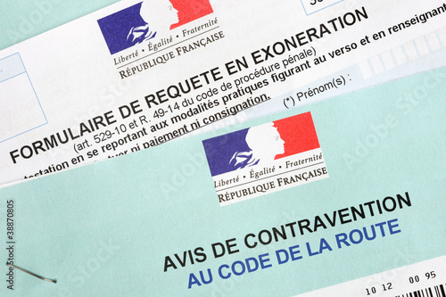 Requete en exonération contravention