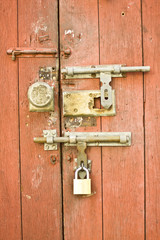 Chinese lock and door