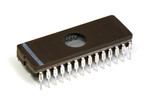 vintage DIP 28 pin EPROM over white