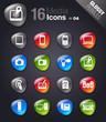 Glossy Pebbles - Media Icons
