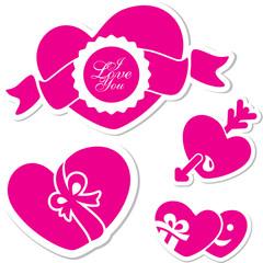 Valentine day heart. I love you sticker