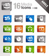 Angle Stickers - Media Icons
