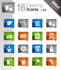 Angle Stickers - Cleaning Icons