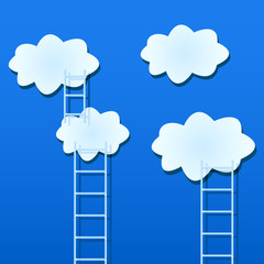 White Clouds with Ladders