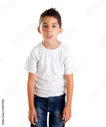 annoyed kid with funny fed up expression