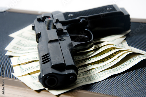 gun and money Poster