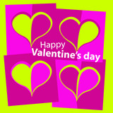 Happy Valentine's day card pink