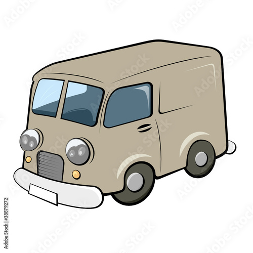 lieferwagen transport cartoon