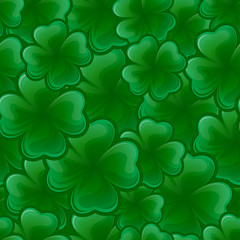Seamless pattern from  clover for St. Patrick's day