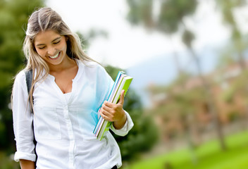 Shy female student