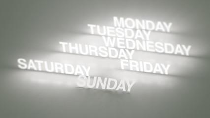 Days, Months Glowing Timeline