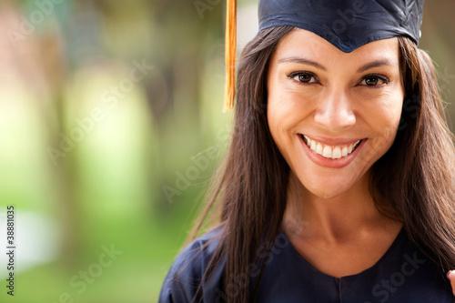 Beautiful woman graduating