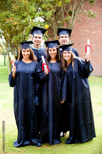 Group of friends at graduation