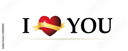 I love you Banner mit Herz