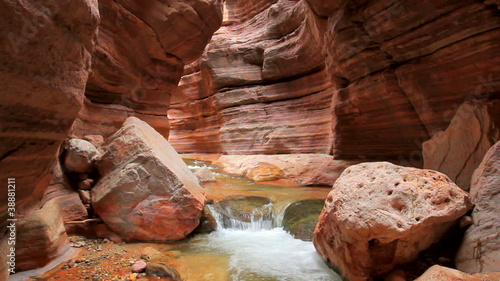 stream flowing in beautiful canyon