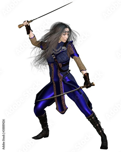 Fantasy Warrior Princess Fighting