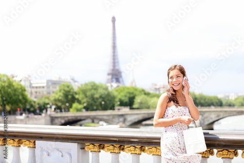 Paris woman on phone