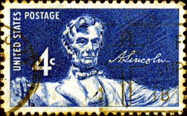 Abraham Lincoln. 1809-1865. US Postage.