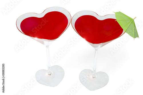 Glass two hearts