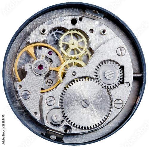 mechanism of old mechanical watch - 38885497