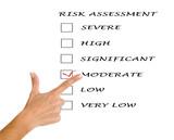 Risk assessment checkboxes poster