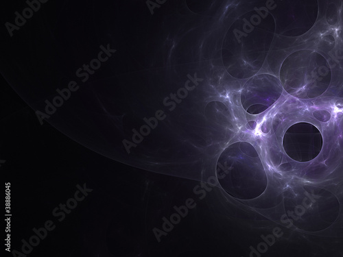Fractal purple bubbles
