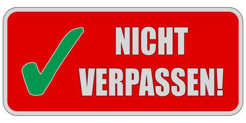 CB-Sticker rot eckig oc NICHT VERPASSEN!