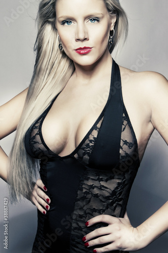 young blond girl with big breasts