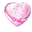 Valentine heart made of pink cocktail