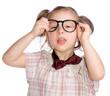Mädchen möchte keine Brille
