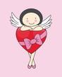 Hada con un corazón